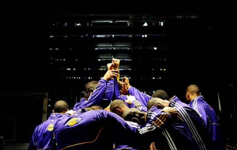 Los Angeles Lakers managed to defeat the defending NBA Championships, Mavericks, despite only scoring seven points in the third quarter PHOTO BY LATimes
