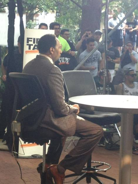 ESPN's First Take set in San Antonio on June 12th (Photo by Kyle Fuller)