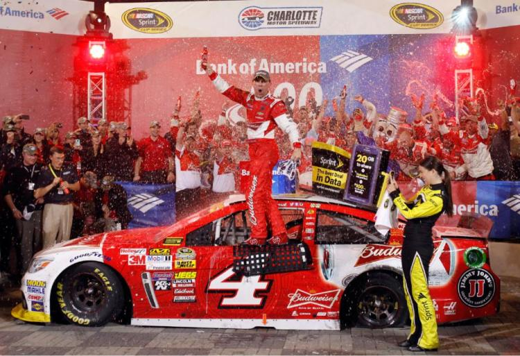 Kevin Harvick wins at Charlotte