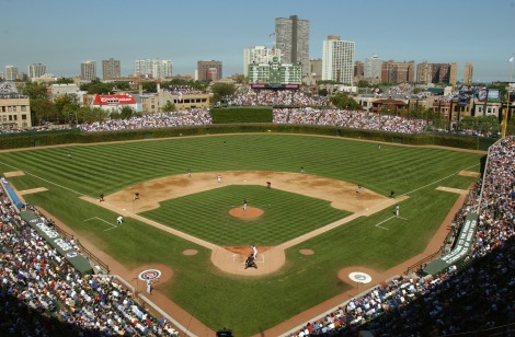 CHICAGO - SEPTEMBER 10:  Wrigley Field is shown during game one of a double header between the Chicago Cubs and Florida Marlins on September 10, 2004 at Wrigley Field in Chicago, Illinois. The Marlins defeated the Cubs 7-0. (Photo by Jonathan Daniel/Getty Images)